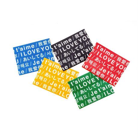 THE LATTE TOKYO LOVE LABEL STICKER SET 2020