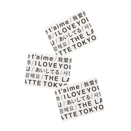 THE LATTE TOKYO|LOVE LABEL STICKER SET