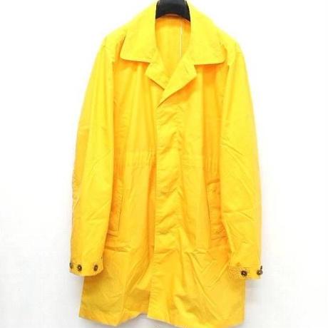 未使用YOTA TOKI ヨータトキ BAL COLLAR COAT ステンカラーコート 2015春夏 2015SS ナイロン ルーズ YELLOW イエロー 黄色 XS