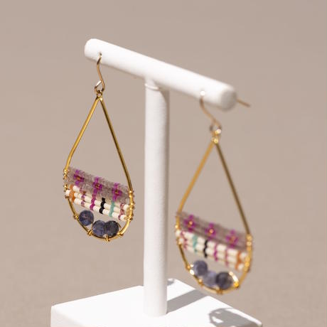Kui Co.| Signature Earrings ストライプ