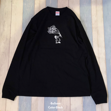 【LOBBY】Long T-Shirt [Dog/Skateboard/Balloon]