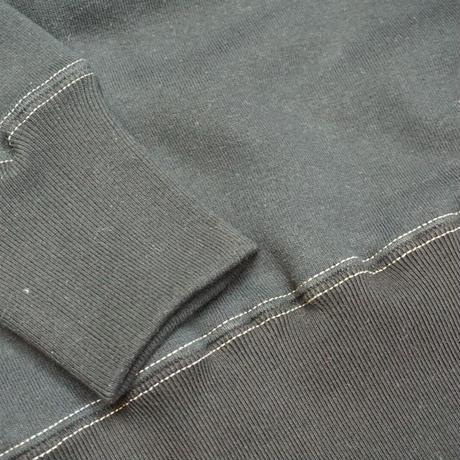 "Cushman Print sweat ""Clover""(ブラック)"