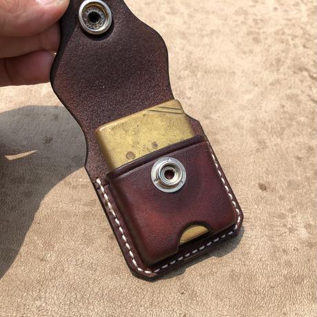 FUNNY ZIPPO Case saddle  leather(ブラウン)