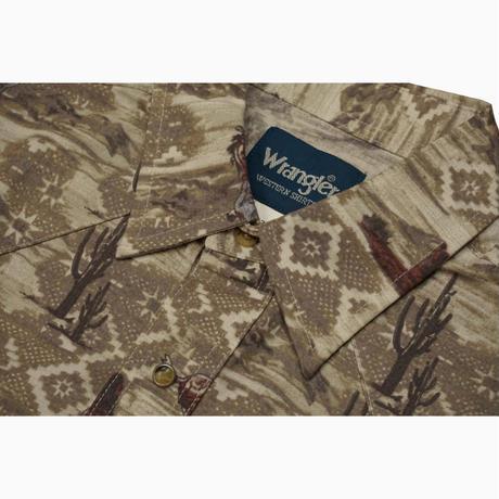 Wrangler L/S western shirt(ベージュ) sizeL
