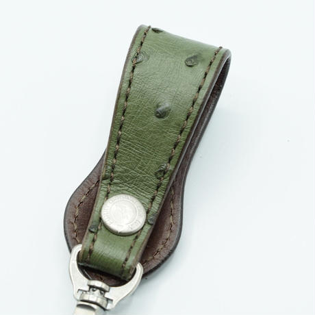 FUNNY Loop key holder Ostrich(Forest Green) 31mm
