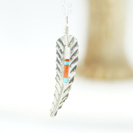 Indian Jewelry feather NAVAJO Top