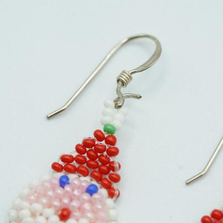 OGLALA bead earrings Xmas