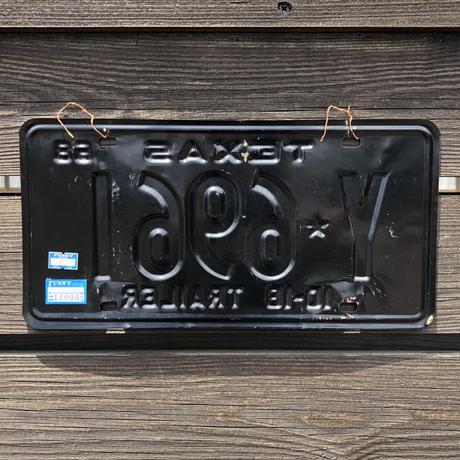 VINTAGE License plate TEXAS