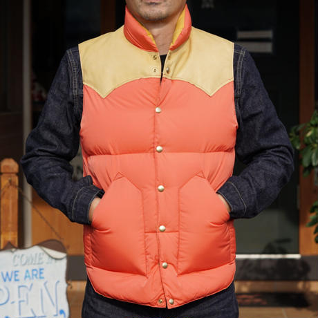 Rocky Mountain Fetherbed Down Vest #200-202-01(Apricot)