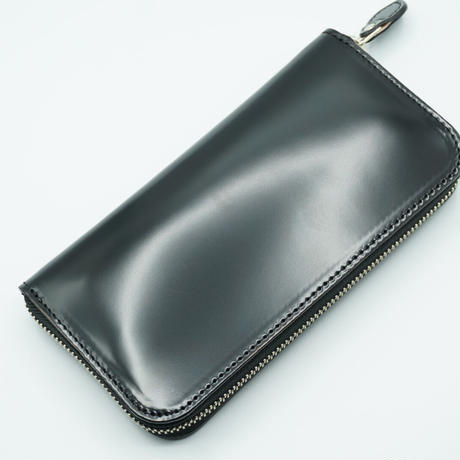 KC,s wallet round zip cordovan(ブラック)