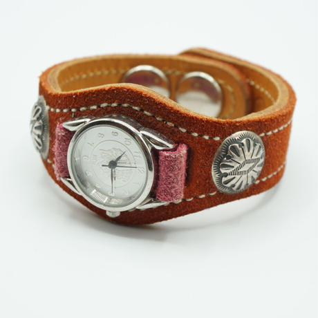 KC,s Watch bless 2concho suede(ライトブラウン)