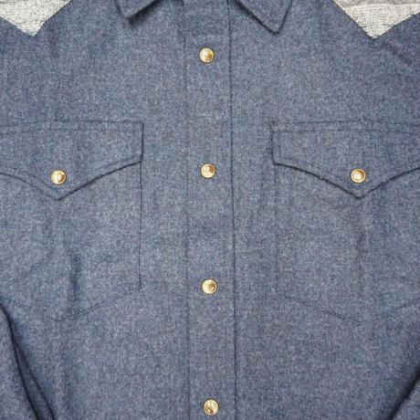 PENDLETON wool shirt(ネイビー) sizeL