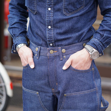 Key Double Front Denim Logger Pants