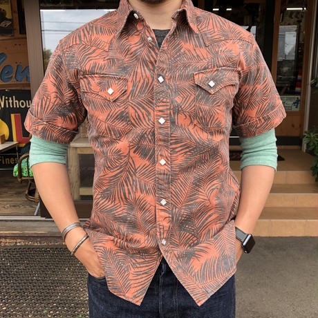 Funny S/S Western  shirt(オレンジ)
