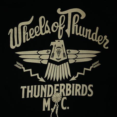 GUNZ THUNDERBIRDS sweat f/z parka(ブラック)