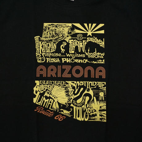 RT.66 Arizona Pictures 66-LA-TS-AZPICS-BK Tee