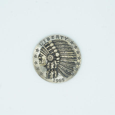 FUNNY Chief HEAD INDIAN CONCHO 31mm