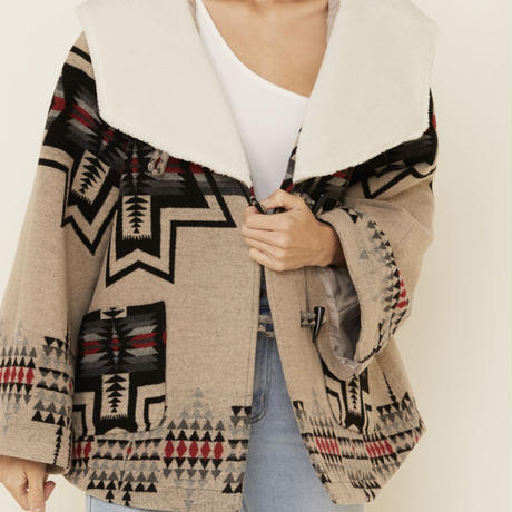 POWDER RIVER OUTFITTERS WOMEN'S IVORY JACQUARD COAT