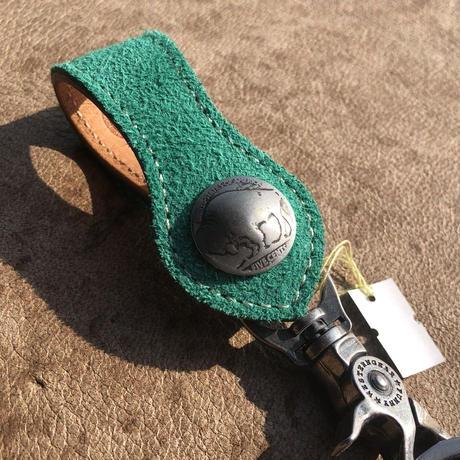 FUNNY Loop key holder suede(エメラルド)