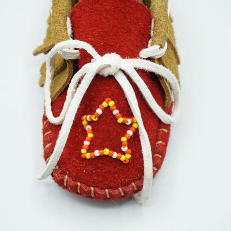 F UNNY Child Fringe Boots Moccasin(レッド)