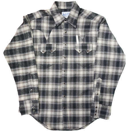 ROCK MOUNT L/S Western shirt(グレー) size15.5×33.5