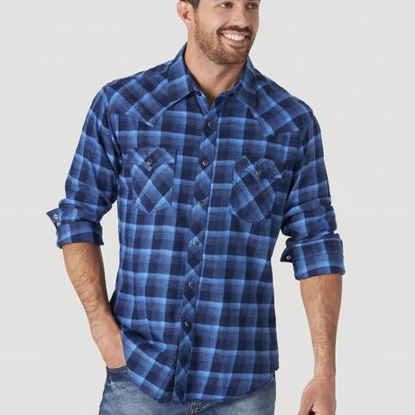Wrangler Western L/S Flannel shirts