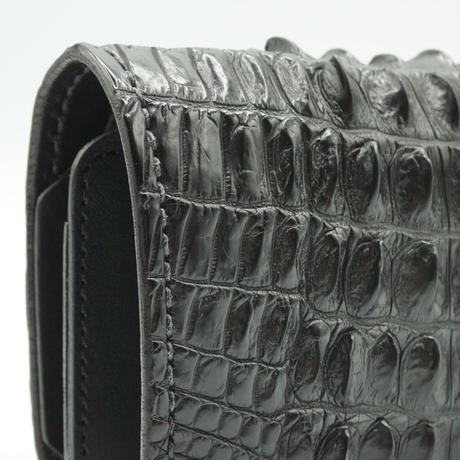 FUNNY Sunset Billfold Crocodile Hornback(ブラック)