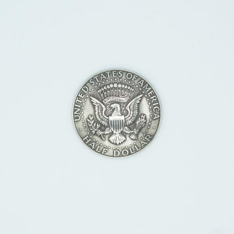 FUNNY Coin ¢50 KENNEDY REVERSE LOOP CONCHO 31mm