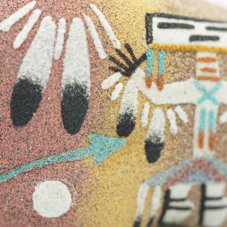 Sand paint buffalo made by Lambert Smith