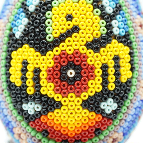 Huichol Art - Eggs lined with beads