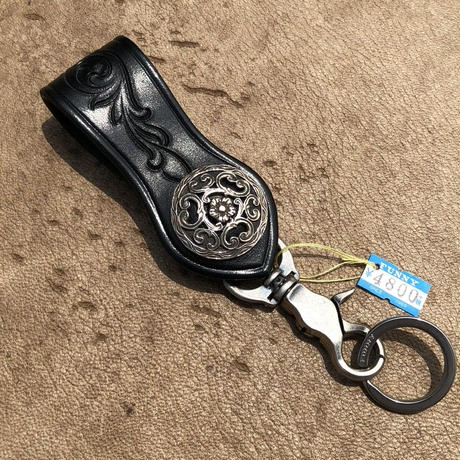 FUNNY Arrow head loop key holder Feather cut(ブラック)
