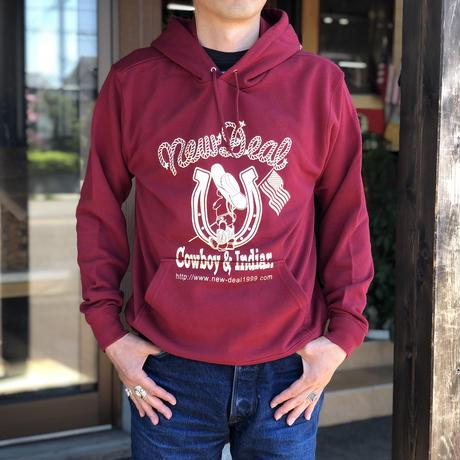NewDeal Original pullover hoodie(バーガンディ)