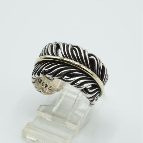 Slow Feather Ring 18k Gold