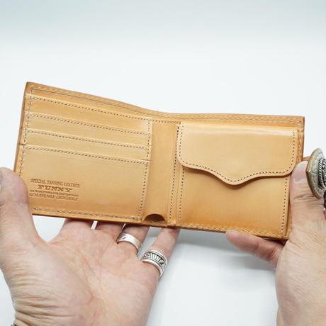 FUNNY Coin head billfold Crocodile Horn back(ナチュラル)
