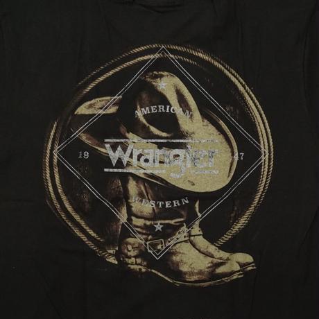 Wrangler Western Boots TEE (ブラック) size S