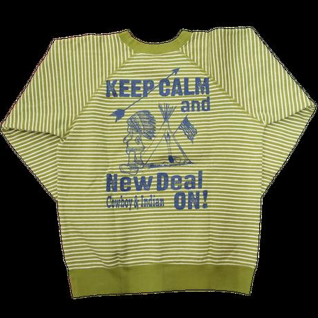 NewDeal original Indian sweat(グリーン) sizeS