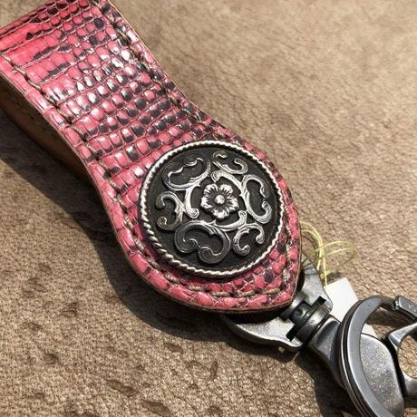 FUNNY Arrow head loop key holder Lizard(ピンク)