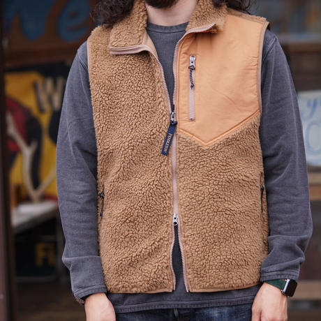 PENDLETON Jacquard Boa Fleece Vest Harding