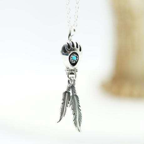 Indian Jewelry Bearpaw&Feather NAVAJO Top