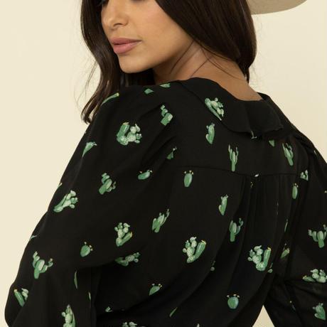 Wrangler  Ladies Cactus print front top