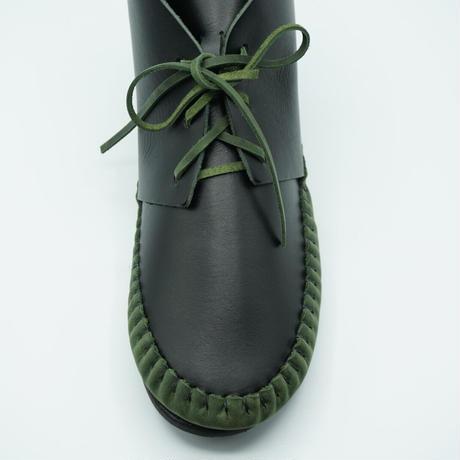 FUNNY Moccasin Desert Boots(ブラック×バンブー)