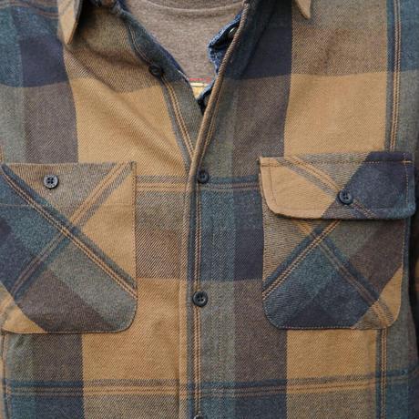KAVU L/S Elbow patch shirt(Forager)