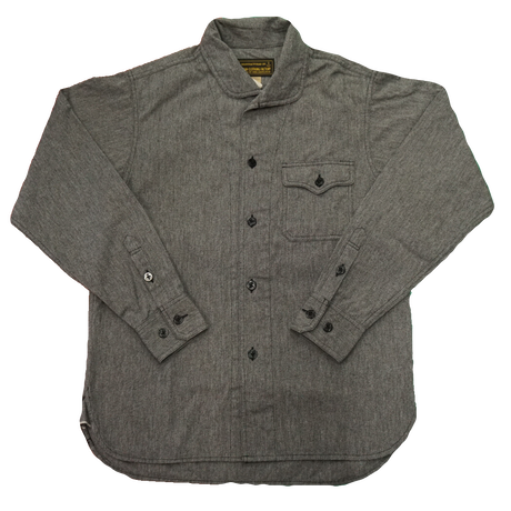 Cushman Mix chambray marine shirts #25558(ミックスブラック)