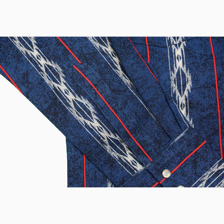 Wrangler L/S western shirt(ブルー)