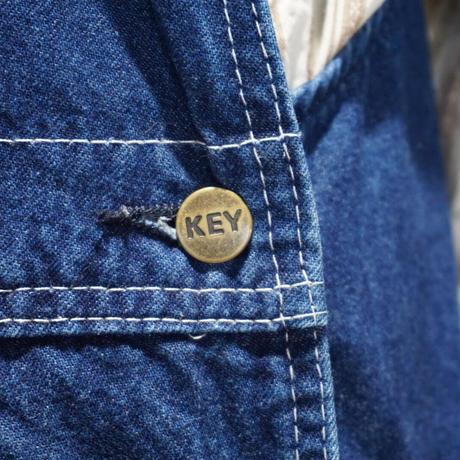 Key overall denim