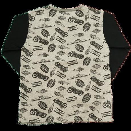 GUNZ Pile sweat size S(ブラック×グレー)
