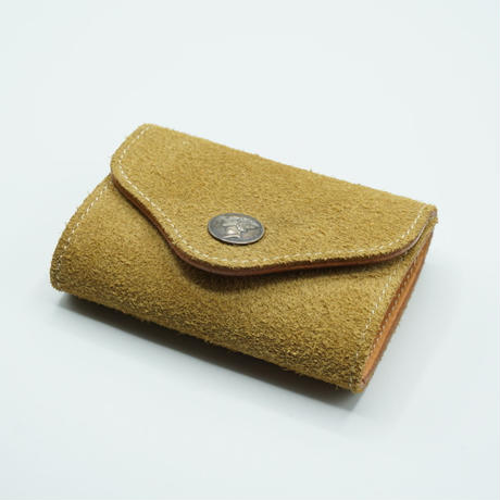 FUNNY Coin Case Bellows Suede(ベージュ)