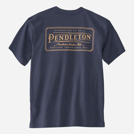 PENDLETON Logo S/S Tee(Blue)