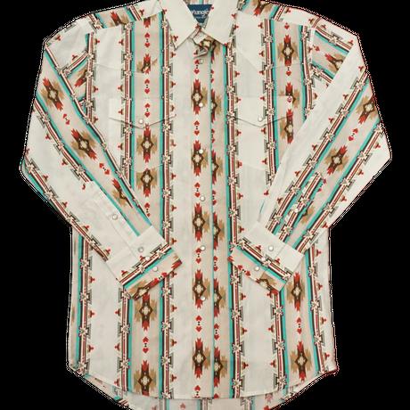 Wrangler western L/S shirt(ホワイト)
