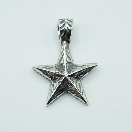 """FUNNY HAND ENGRAVED STAR PENDANT """"S"""""""